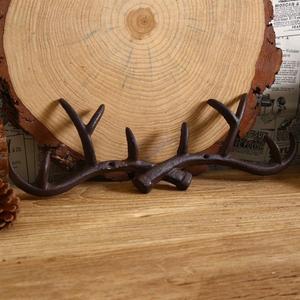 Image 4 - OUNONA Cast Iron Vintage Deer Antler Wall Hooks Home Decorative Hook Rack Wall mounted Key Hanger Wall Hanger for Key Coat Towel
