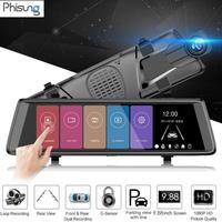 Phisung H900 Full HD 1080P Car DVR Camera 9.88 inch Rearview Mirror Digital Video Recorder Dashcam