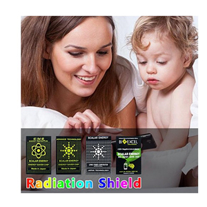Image 2 - 50 pcs EMR énergie scalaire téléphone autocollant Anti rayonnement puce bouclier garder santé ordinateur portable Anti EMP EMF Protection pour femme enceinte