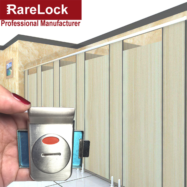 Rarelock MS120 Handle Door Lock for WC Toilet Fitting Room Bathroom Accessories Restroom Washroom Public Place Hardware  a