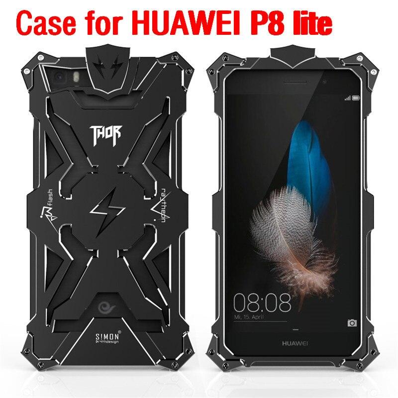 imágenes para Fundas p8 lite Original Diseño Fresco armor THOR IRONMAN Metal móvil caja del filtro del teléfono protege la cubierta de shell para huawei p8 lite caso