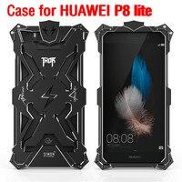 Zimon Fundas P8 Lite 2015 оригинальный Дизайн cool Броня Тор Ironman Металл мобильного телефона защиты чехол для Huawei P8 lite случае