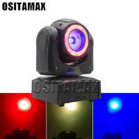 Newest LED Mini Moving Head Beam 60w Lyre LED RGBW 4IN1 Stage Light Endless Rotating Beam DMX Disco Light