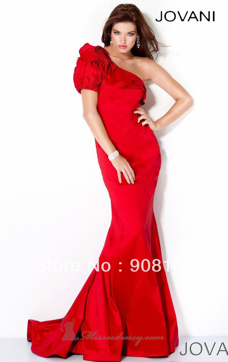 Hot sell long one shoulder designer gorgeous mermaid - Designer red carpet dresses ...