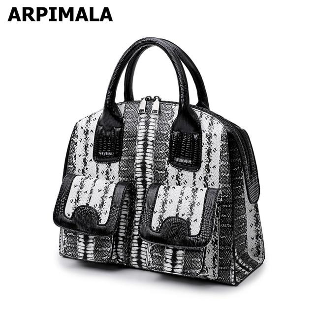 ec7b18af90dc ARPIMALA Vintage Snake Print Tote Bag Women Big PU Leather Handbags Ladies  Large Briefcase Work Shopper Bags for Winter