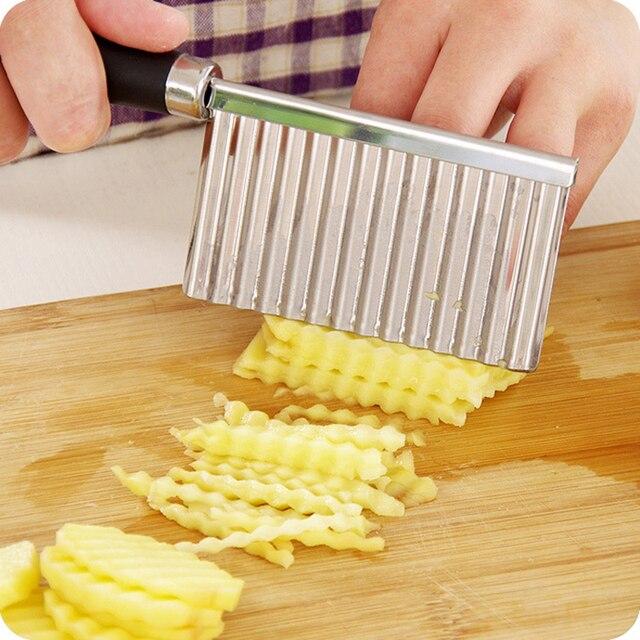 1 pz Chip Pasta di Carota Verdura Lama di Patate Frutta Piega Ondulato Cutter Af