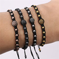 Rope Chain Handcrafted Bracelets Bangles Rhinestone Bead Bracelet Woman Man Jewelry 4 Styles