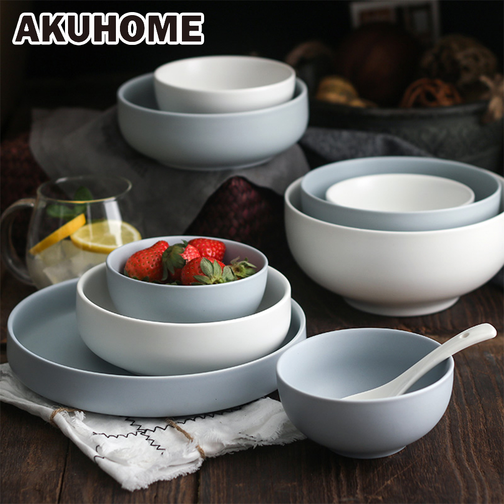 Strong-Willed Antowall Japanese Style Handpainted Ceramic Rice Bowl Porcelain Eating Bowl Soup Bowl Special Restaurant Tableware Dinnerware