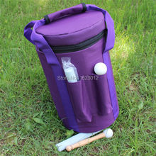 Purple Color Carry bag for 7″- 8″ hand held crystal singing bowls with Heavy Duty  Canvas Carrier