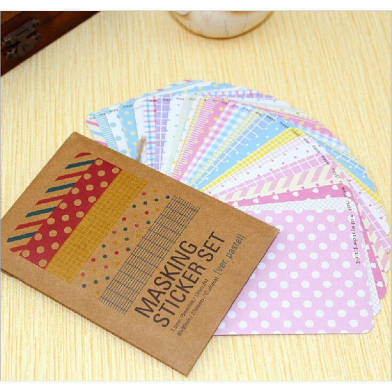 Toys & Hobbies Stickers Creative Peerless 27 Pcs/lot Candy Color Print Notebook Album Calendar Memo Message Diary Notes Decor Scrapbook Paper Sticker Stationery Customers First