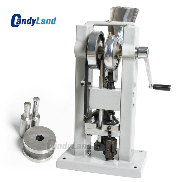 CandyLand TDP 0 Manual Single Rotary Punch Tablet Press Stamping Candy Sugar Salt Pressing Die Making Machine