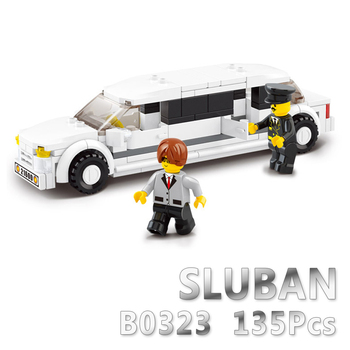 Sluban Model Building Compatible B0323 135pcs Model Building Kits Classic Toys Hobbies Luxury Limousine image