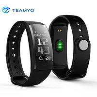 Teamyo QS90 Smart Fitness Bracelet Blood Pressure Watches Heart Rate Monitor Activity Tracker Smart Wristband For