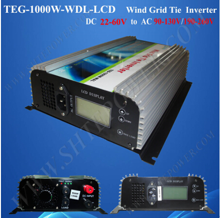 1000W dc ac grid tie inverter, 48V grid inverter for wind generator, professional inverter manufacturer maylar 1000w wind grid tie inverter for 24v 48v 3 phase wind generator turbine lcd display 180 260vac