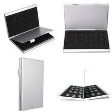 Высокое качество Современный стиль серебро Алюминий карты памяти чехол для хранения Box Держатели для памяти Micro SD карты 24TF