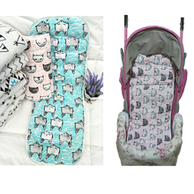 2017 New Arrival Cotton Baby Stroller Seat Cushion Infant Diaper Pad Changing Mat Seat Pad For Baby Prams Stroller Accessories