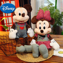 цена на Disney Mickey Minnie Stuffed Animals Classic Plush Toys Birthday Gifts for Baby and Children