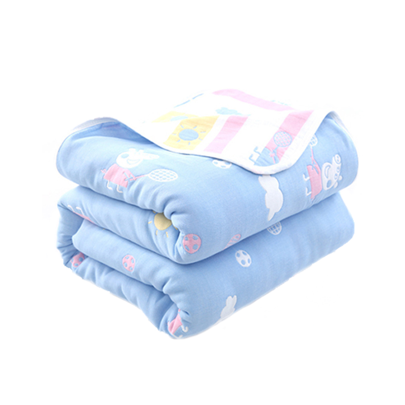 Baby Cotton Blanket Newborn Blanket Children's Bedding 100% Cotton Baby Quilt Baby Bath Towel 6 Layers Of Cotton Gauze 120*150cm цена