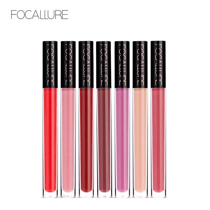 FOCALLURE 14 colores impermeable lápiz labial líquido mate largo duradero pero no seco Chocoloate Lip Gloss maquillaje belleza cosmética