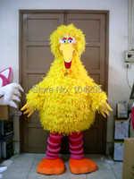 Ohlees Schnelles Freies Versand Sesamstraße die großen gelben vogel maskottchen kostüm geburtstagsgeschenk spielzeug cartoon tier maskottchen anpassen