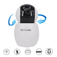 CTVMAN Security Camera Wireless 2mp Mini IP Cameras 1080 Onvif Dome Pan Tilt Audio SD Card