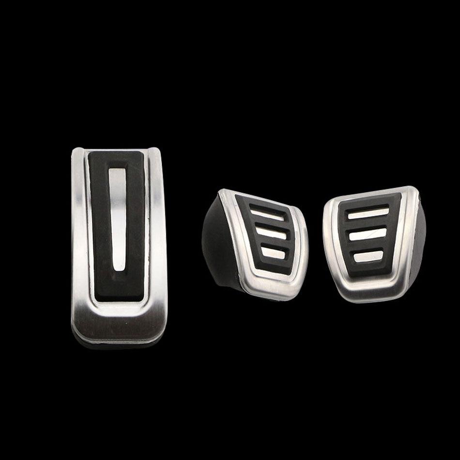 5 Set Lot Stainless Steel Car Pedal for VW Polo Bora Golf MK4 Lavida for Skoda