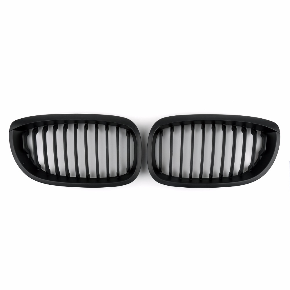 Areyourshop Car Front Fence Grill Grille ABS Mesh Covers For BMW E46 2D 2002-2007 3 Series 1 Pair High Quality Car Styling Grill 10th front bumper grill abs material middle grille racing grills type r grill mesh case for honda civici 2016 2017