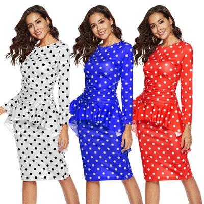 2018 africain Dashiki européenne et américaine mode vague robe vente chaude automne conception à manches longues costume pour dame