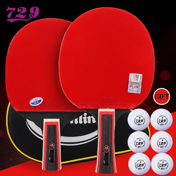 RITC 729 7 Stars Celebrity Racket Pips-In Table Tennis Racket for Ping Pong with free case palio tct table tennis blade with ritc 729 general rubber with sponge a pair in a box for a ping pong racket