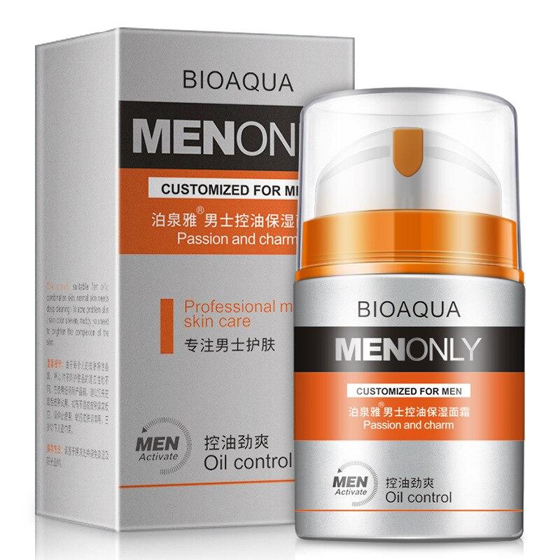 BIOAQUA Crema hidratante antiarrugas para el cuidado de la piel para hombres, tratamiento para el acné, espinilla reafirmante, estiramiento hidratante, mascarilla facial 50g