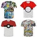 Caliente Picachu Pokemon Ir Valor Equipo Equipo de Instinto Místico Para Adolescentes Ropa 3d Imagen de Impresión de Manga Corta T-shirt