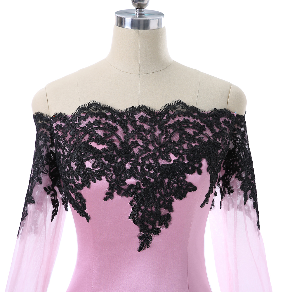 Pink 2018 Mother Of The Bride Dresses Sheath Long Sleeves Appliques Lace Wedding Party Dress Mother Dresses For Wedding