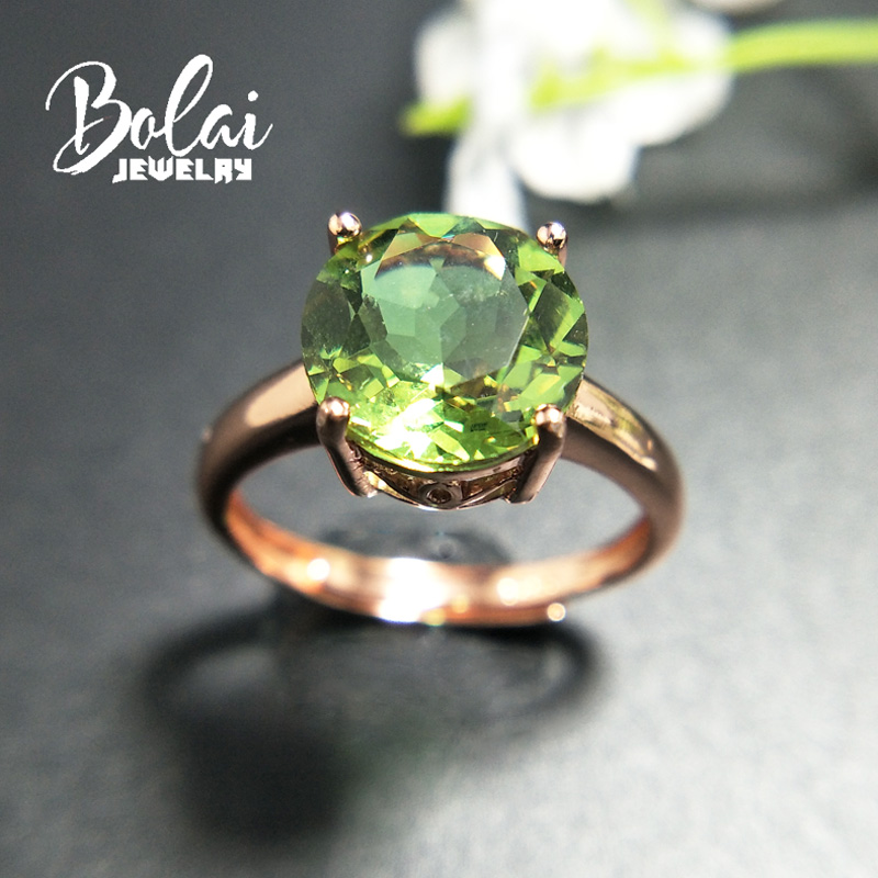 Bolaijewelry,Zultanite Ring 925 Sterling Sliver Created Color Change Gemstone Elegant Design Fine Jewelry For Woman Daily Wear