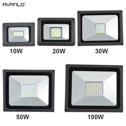 220 В светодио дный прожектор 10 Вт 30 Вт 50 Вт 100 Вт отражатель светодио дный прожектор Водонепроницаемый IP65 Spotlight стены наружного освещения
