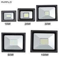 220V LED FloodLight 10W 30W 50W 100W Reflector LED Flood Light Waterproof IP65 Spotlight Wall Outdoor Lighting Warm Cold White