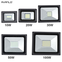 220V LED FloodLight 10W 30W 50W 100W Reflector LED Flood Light Waterproof IP65 Spotlight Wall Outdoor Lighting Warm Cold White 50w led flood light waterproof ip65 cold warm white rgb led floodlight outdoor spotlight with 24key remote controller