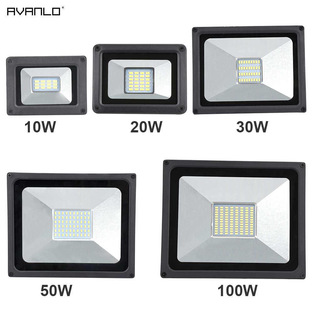 220V LED Flutlicht 10W 30W 50W 100W Reflektor LED Flutlicht Wasserdichte IP65 Scheinwerfer Wand außen Beleuchtung Warm Kalt Weiß