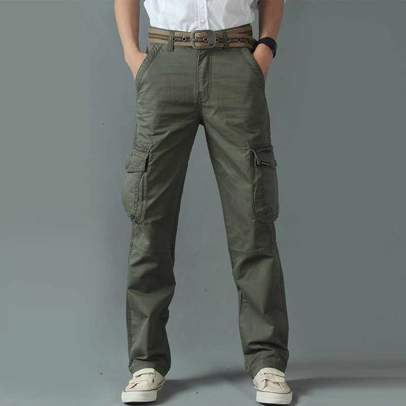 Cargo pants men Tactical Overalls Pants Army Military Straight Casual Solid Relaxed Fit Trousers for Male