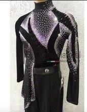 Camiseta de salón de baile latino para hombre, ropa para fiesta, Tango, Jazz moderno, Tops de tela de terciopelo