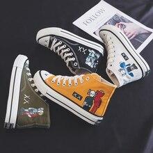 Новые модные Трендовые туфли для скейтбординга; женские повседневные кроссовки для студентов; Легкая классическая спортивная обувь с граффити