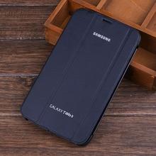 Бизнес раскладной стенд смарт pu кожаный чехол для samsung galaxy tab 3 8.0 дюймов t310 t311 t315 tablet case + screen протектор + Pen