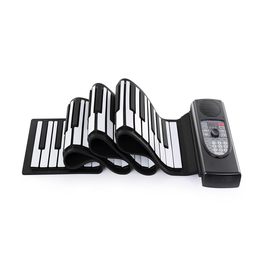 Iword S2090 rouleau de main Piano Flexible retrousser 88 touches clavier Portable Silicone Piano jouets Instrument de musique enfants enfants cadeau