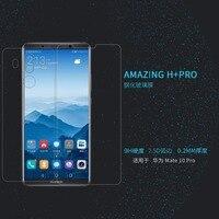 화웨이 메이트 10 프로 강화 유리 스크린 프로텍터 nillkin 놀라운 h + 프로 나노 미터 방폭 2.5d 0.2mm 유리 필름
