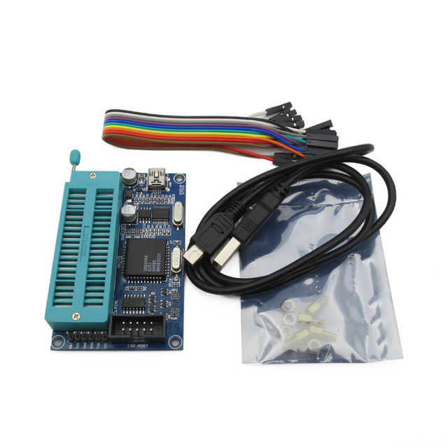 Free Delivery.51 Microcontroller Programmer USB burner support AT89C52 24C02 93C46 300 a variety of chips