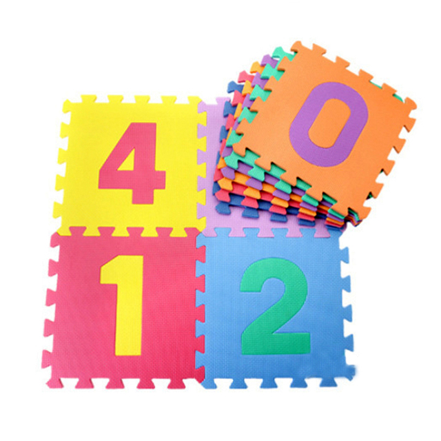 10 pcs/set Baby Play Mats Puzzle Mat Carpet Developing Rug Floor Puzzle Mat EVA Children Foam Carpet Mosaic Foor Child Toys Mat
