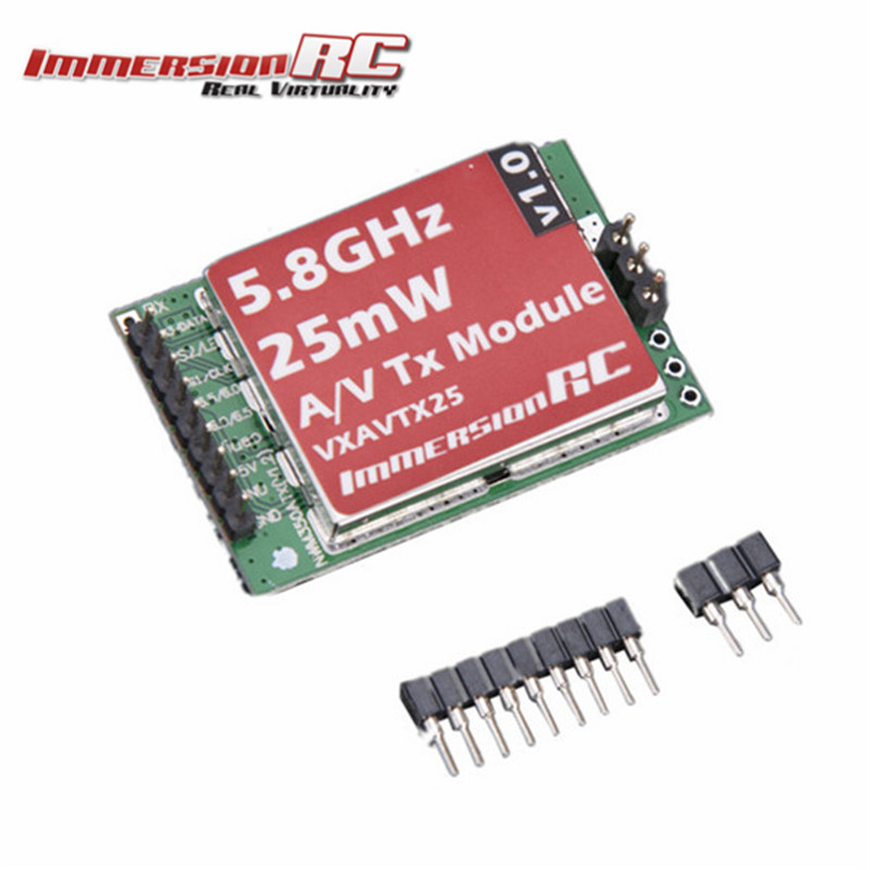 Original ImmersionRC 5.8 GHz 15-Channel A/V Transmitter with RaceBand 25mW for Vortex Quadcopter Spare Parts Accs immersionrc raceband 40ch 5 8ghz 200mw av transmitter module for fatshark