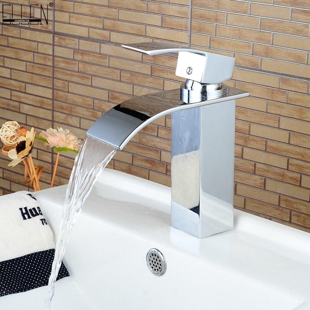 Cascade robinet dans la salle de bain pour bassin évier en laiton mitigeur moderne salle de bains robinet