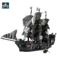 KAZI Caraïbes Navire de Guerre Série 1184 pcs Pirates des Caraïbes Perle Noire Bateau Blocs de Construction Grand Modèle garçon D'anniversaire Cadeau