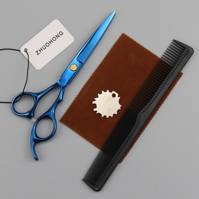 5.5 kit barber scissors japan hair scissors cutting salon hairdressing scissors beard mustache professional shears 440c steel