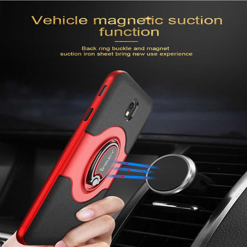 Para samsung j3 j5 j7 2017 anel caso magnético suporte de ventilação ar do carro ipaky titular kickstand caso para samsung j5 j7 2017 versão da ue
